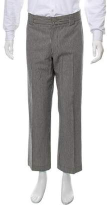 Lanvin Striped Flat Front Pants