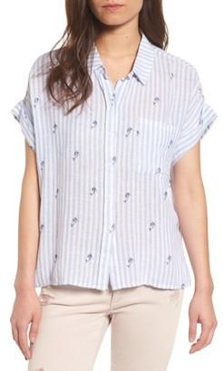 Women's Rails Whitney Linen Blend Shirt $138 thestylecure.com