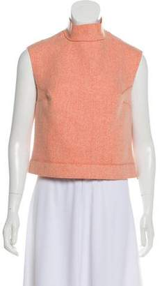 Calvin Klein Collection Wool-Cashmere Crop Top
