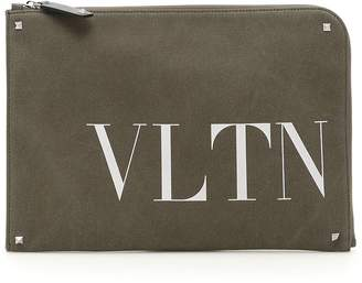 Valentino Logo Document Case