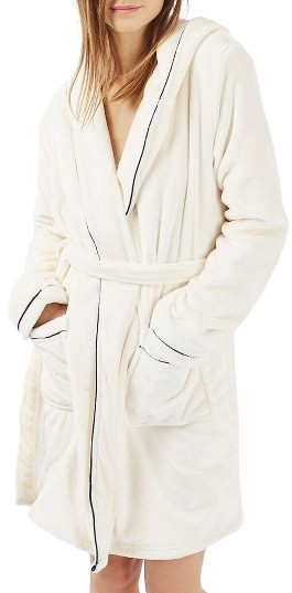 TopshopWomen's Topshop Not A Morning Person Hooded Robe