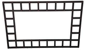 Iron Trellis-Accented Full-Length Mirror