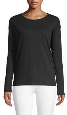 Saks Fifth Avenue Classic Long-Sleeve Cotton Top