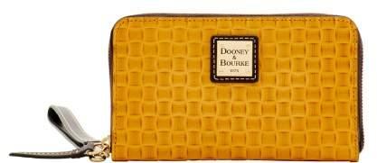 Dooney & Bourke Claremont Woven Zip Around Phone Wristlet - WHEAT - STYLE