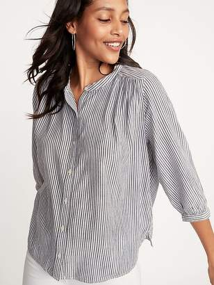 Old Navy Button-Front Striped Swing Shirt for Women