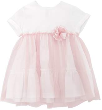 Il Gufo Cotton Jersey & Tulle Party Dress