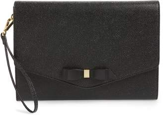b3f2fb74ee973c Ted Baker Krystan Bow Leather Envelope Clutch