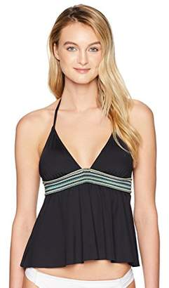 Kenneth Cole Reaction Women's Flounce Tankini Swimsuit Top