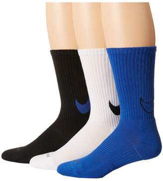 Nike Dri-FIT Cotton Swoosh Crew 3-Pair Pack Crew Cut Socks Shoes