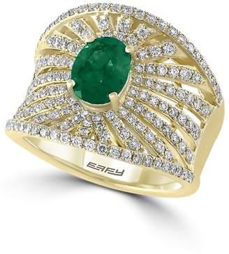 Effy Women's Diamond, Emerald & 14K Yellow Gold Ring