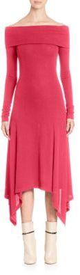Derek Lam Solid Off-The-Shoulder Dress $1,595 thestylecure.com
