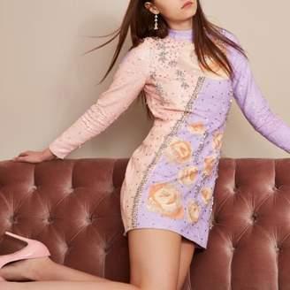 River Island Womens Purple Holly Fulton sequin shift dress