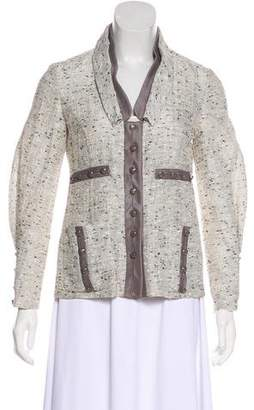 Valentino Tweed Knit Blazer