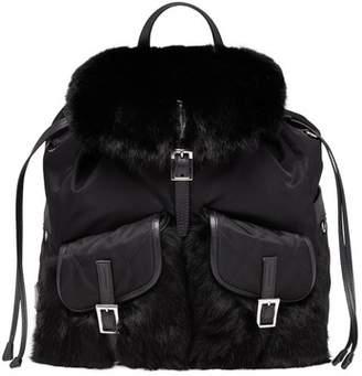Prada Rabbit Fur Backpack