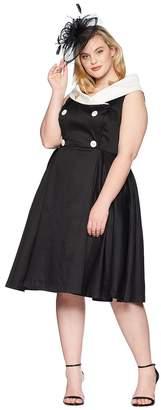 Unique Vintage Plus Size Barbie x UV After Five Swing Dress Women's Dress