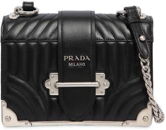 Prada Cahier Quilted Soft Leather Shoulder Bag