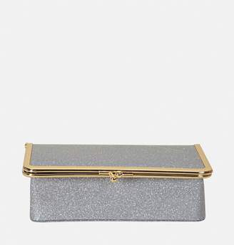Avenue Silver Glitter Kisslock Cosmetic Case