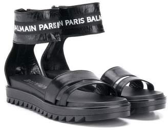 Balmain Kids logo open-toe sandals