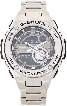 G-Shock G Shock GST210D-1A Silver-Tone Analog-Digital Watch