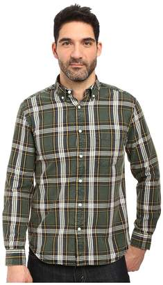 Vintage 1946 Oxford Washed Plaid Long Sleeve Woven Shirt Men's Long Sleeve Pullover