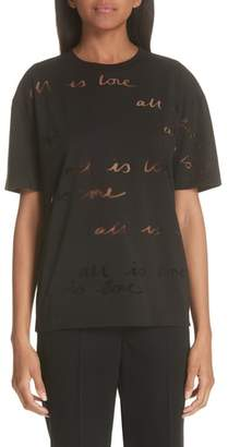 Stella McCartney All Is Love See Through Graphic Tee