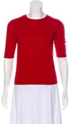 Versace Short Sleeve Knit Top