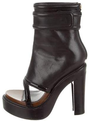 Givenchy Platform Peep-Toe Ankle Boots