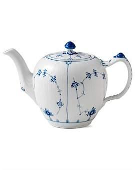 Royal Copenhagen Blue Fluted Plain Teapot 1Ltr