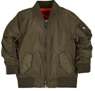 Haus of JR Ruched-Sleeve Bomber Jacket-GREEN $90 thestylecure.com