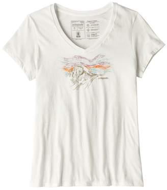 Patagonia Women's Raindrop Peak Organic Cotton V-Neck T-Shirt