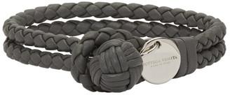 Bottega Veneta Grey Intrecciato Knot Bracelet