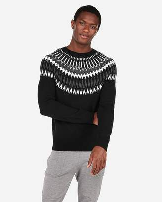 Express Fair Isle Crew Neck Sweater
