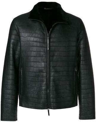 Emporio Armani crocodile effect jacket