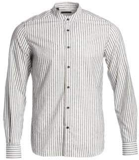 Saks Fifth Avenue COLLECTION Boucle Stripe Woven Shirt