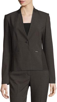 Tahari Juliann One-Button Blazer Jacket $119 thestylecure.com