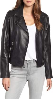 Bernardo Double Zip Leather Jacket