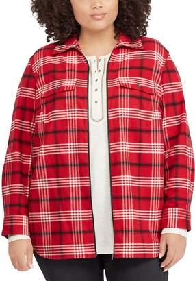 Chaps Plus Size Plaid Flannel Jacket