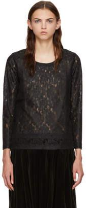 Comme des Garcons Black Raschel Lace T-Shirt