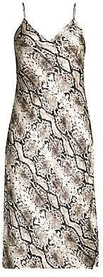 CAMI NYC Women's The Raven Snake-Print Silk Slip Dress