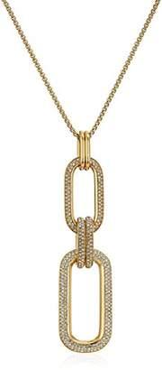 Michael Kors Brilliance Iconic Links -Tone Statement Long Pendant Necklace
