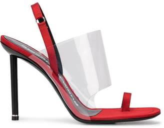 Alexander Wang Alexanderwang kaia red satin pump