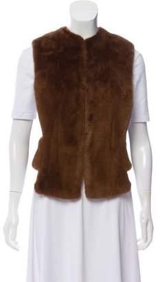 Derek Lam Mink Cutout Vest w/ Tags