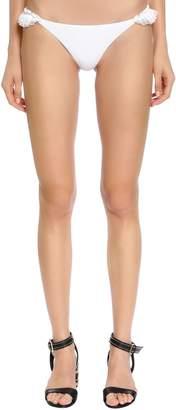 Ermanno Scervino Ruffled Lace & Lycra Bikini Bottoms