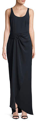 Emporio Armani Asymmetric Draped Floor-Length Gown
