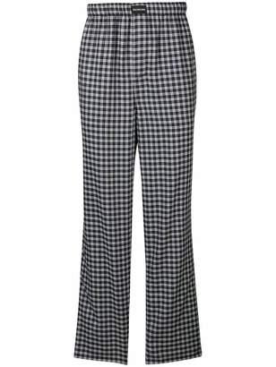 Balenciaga checked pyjama style trousers