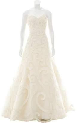 Oscar de la Renta Embellished Silk Wedding Gown w/ Tags