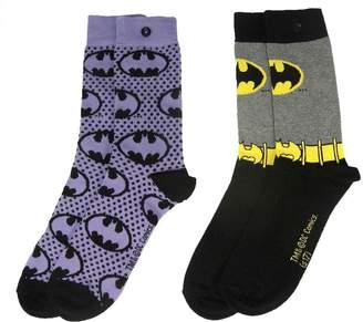 Batman Officially Licensed Ladies DC Comics Sketch Assorted Socks 2 Pack