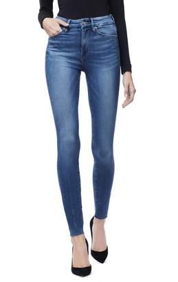 Good American Good Legs Raw Hem Skinny Jeans