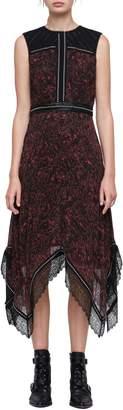 AllSaints Adella Rosey Handkerchief Hem Dress
