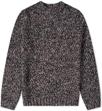 Folk Mixed Yarn Crew Knit